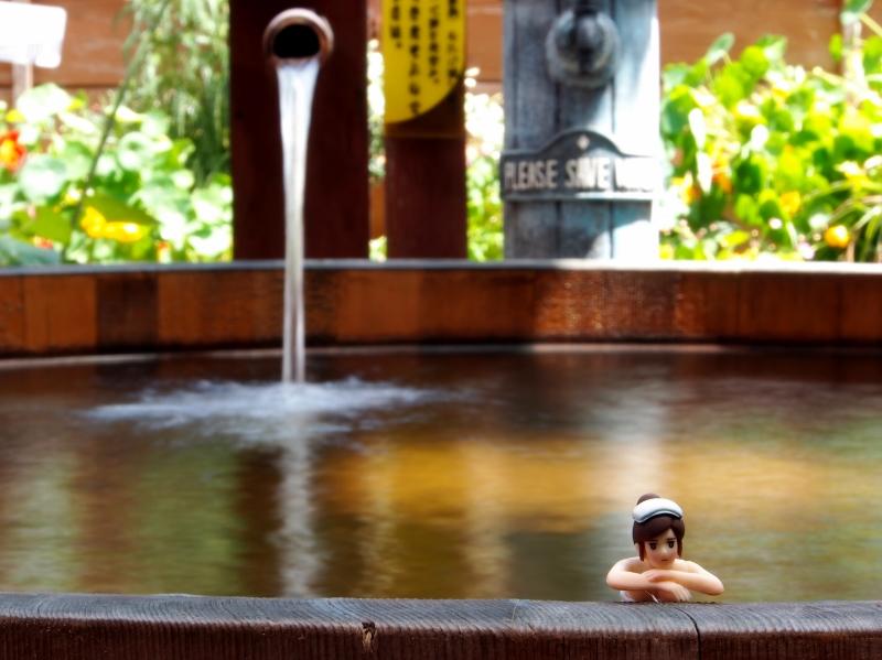 中央ホテル貸切露天風呂コップのフチ子温泉