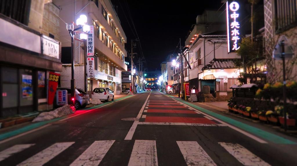 長野県千曲市小倉上山田温泉積雪状況中央ホテル