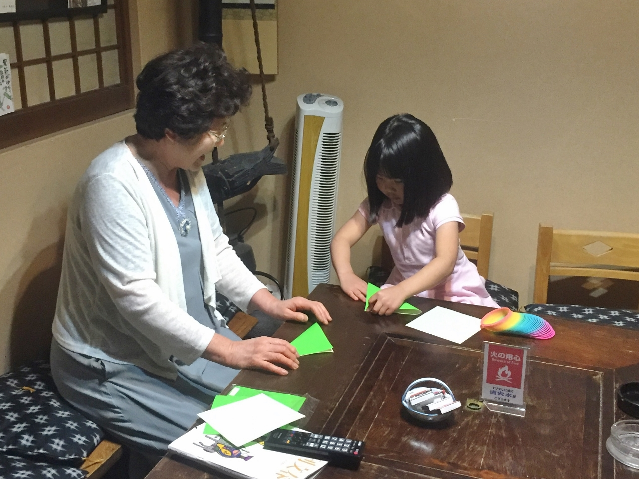 長野県千曲市戸倉上山田温泉中央ホテル女将折り紙