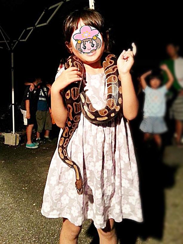 長野県長野市茶臼山動物園サマーナイトzooヘビポールニシキヘビ