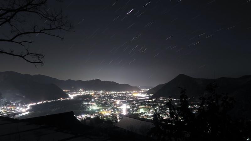 <信州冬星空> 城山史跡公園 荒砥城