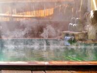 湯煙り漂う掛け流し温泉