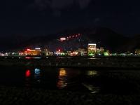 千曲川のほとり 戸倉上山田温泉 夜景